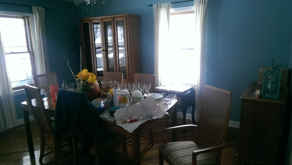 dining room messy
