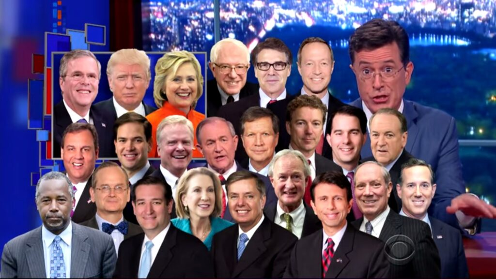 Colbert and the presidential candidates