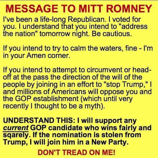 message to mitt