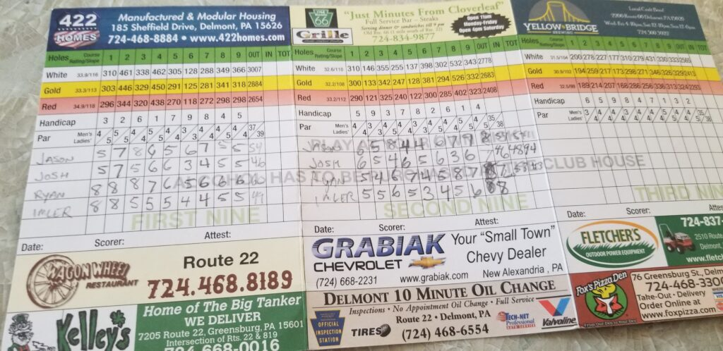 A Great Day of Golf